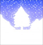 Illustration Chanson de Noël Mon beau sapin caché sous la neige