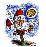 Dessin Chanson de Noël Petit Papa Noël sur ressort