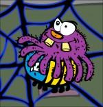 Dessin Chanson L'araignée, l'araignée attrape le frelon