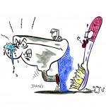 Chanson La Brosse à Dents, le lavabo est énervé