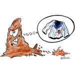 Illustration Chanson La Tache de Chocolat, la tache en colère