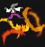 Chanson La Valse des Loups, le loup danse au-dessus des flammes