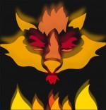 Chanson La Valse des Loups, le masque de loup enflammé