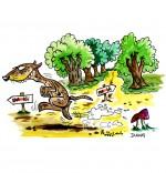 Illustration Chanson Le furet, il court dans la forêt