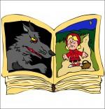 Illustration Chanson Le Loup Sympa, le livre du chaperon rouge