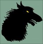 Illustration Chanson Le Loup Sympa, ombre de loup