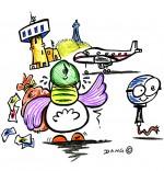 Illustration Chanson Le Rap du Poulailler, une poule qui gagne beaucoup d'argent
