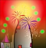 Illustration Chanson Madame Fusée, la fusée est toute illuminée