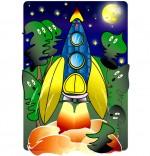 Illustration Chanson Madame Fusée, la fusée décolle, les sapins sont étonnés