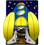 Illustration Chanson Madame Fusée, la fusée énorme