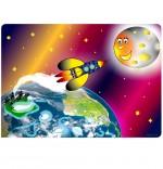 Illustration Chanson Madame Fusée, la fusée s'envole vers la lune
