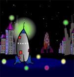 Dessin Chanson Madame Fusée, la fusée est prête au décollage