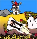 Dessin Chanson Meunier tu dors, meunier dort dans le blé
