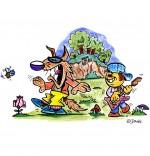 Illustration Chanson Promenons-nous dans les bois en musique