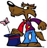 Illustration Chanson Promenons-nous dans les bois, un beau loup