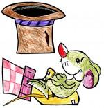 Illustration Chanson Une souris verte, la souris verte dans le creux de ma main