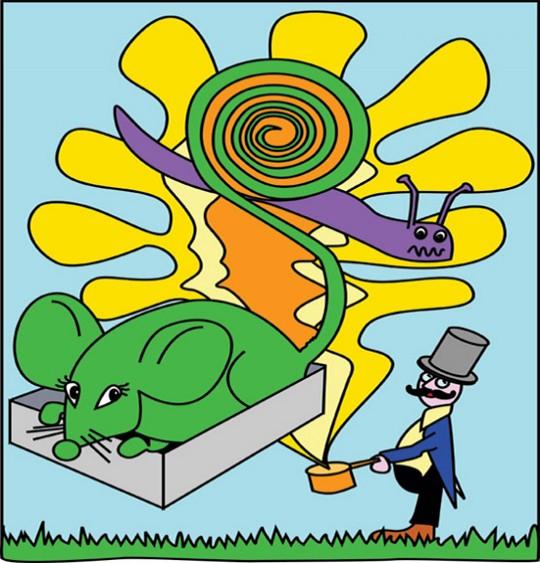 Dessin Une souris verte par Emareva, illustrateur Emareva