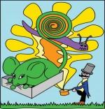 Illustration Chanson Une souris verte par Emareva