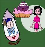 Comptine Fait dodo Colas mon petit frère, maman fait un gâteau