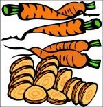 Dessin Comptine La soupe à la sorcière, les carottes