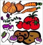 Dessin Comptine La soupe à la sorcière, les légumes pour la soupe