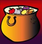 Dessin Comptine La soupe à la sorcière, une marmite de soupe aux légumes