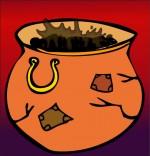 Dessin Comptine La soupe à la sorcière, une marmite de soupe bien brulée