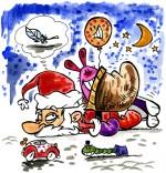 Dessin Comptine Le père Noël est fatigué le pauvre