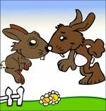 Comptine Mon petit lapin a bien du chagrin, le bisou