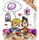 Illustration Comptine Tic tac, quelle heure est-il ? J'ai faim