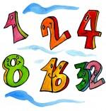 Illustration Comptine Un et un deux, c'est heureux, 1, 2, 4, 8, 16, 32
