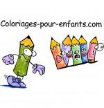 Crayons de couleur, le logo du site depuis 2011