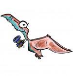 Illustration Dinosaure, le ptérodactyle de nos reportages pour enfants