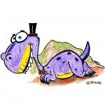 Illustration Dinosaure, le tyranosaure-rex de nos spectacles pour enfants