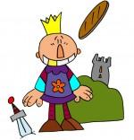 Illustration La galette des rois, le roi Galette